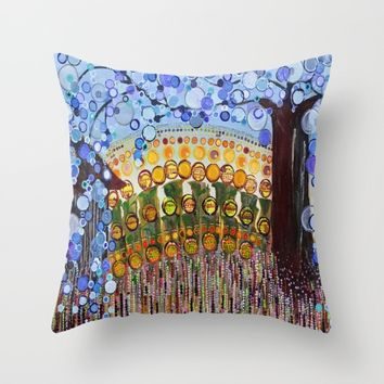 :: Indiana Blue Willow :: Throw Pillow by :: GaleStorm Artworks ::