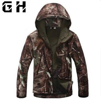 Cool Lurker Shark Skin Soft Shell V5.0 Outdoors Military Tactical Jacket Waterproof Windproof Hunter Camouflage Army ClothingAT_93_12