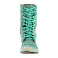 Steve Madden Troopa Green Leather - Zappos.com Free Shipping BOTH Ways
