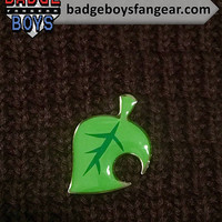 Animal Crossing Leaf Logo Glossy Lapel Pin - Animal Crossing