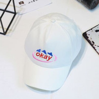 Retro Embroidery okay Baseball Cap