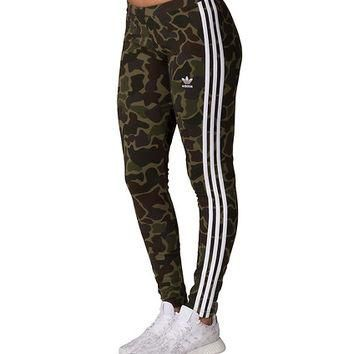 Adidas Camo 3 Stripe Legging - Dark Green | Jimmy Jazz - CG1179-307