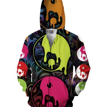 Drippy Yin Yang Zip-Up Hoodie *Ready to Ship*