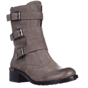 Vince Camuto Watcher Mid Calf Motorcycle Boots - Moonstone