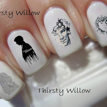 Benedict Cumberbatch as Sherlock Holmes Nail Decals Waterslide Decals Water Transfers