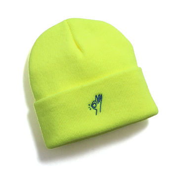 OK Beanie Safety Yellow