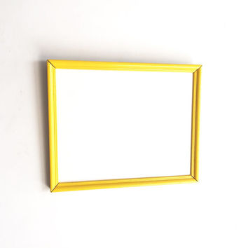 Yellow Vintage Framed Whiteboard - Vintage Decor, Office Decor, Dry Erase Board, Teacher, School, Dorm, Classroom, Business, Holiday Decor