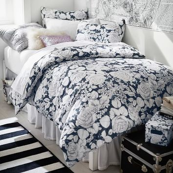 Winter Rose Duvet Cover + Sham