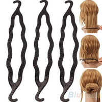 New 5pcs Hair Twist Styling Clip Stick Bun Maker Braid Tool Hair Accessories , hair styling maker, hair holder = 1651621444
