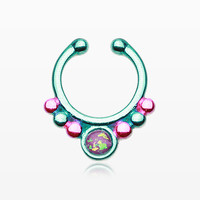 Colorline Opal Grandiose Fake Septum Clip-On Ring