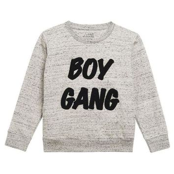 LMFMS9 Little Eleven Paris Boys 'Boy Gang' Sweatshirt