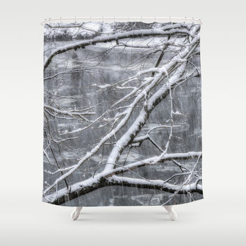 Winter's Song Shower Curtain by Joann Vitali