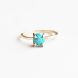 Turquoise Solitaire Ring in Gold or Silver