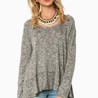 TIMMONS SWEATER IN MARLED GREY