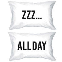 zzz All Day Pillowcases - Bold Statement Pillow Covers