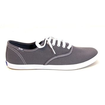 ONETOW Keds Champion Mens - Graphite Slim Lace-Up Sneaker