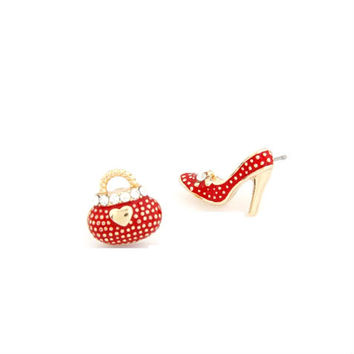 Bags and Heels Asymmetric Earrings - More colors available!