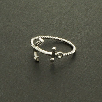 Anchor Ring in Silver / R012S