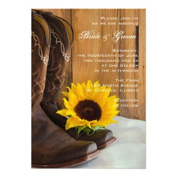 Country Sunflower Wedding Invitation from Zazzle.com
