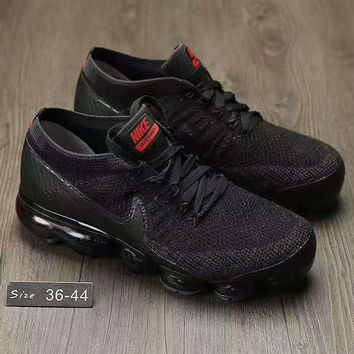 NIKE AIR KNIT Breathable Sneakers Running shoes Black