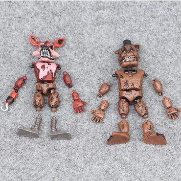 Hot Sell Anime Figure Five Night At Freddy Action Figure  Bonnie Bear Foxy Pvc Model Freddy Toys Children Birthday Gifts