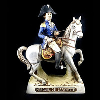 Marquis De Lafayette Decanter Bottle Vintage American Revolution Grenadier Empty      FREE SHIPPING!!!