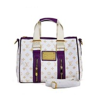 Louis Vuitton LV Fashion Leather Travel Tote Satchel Shoulder Bag Handbag