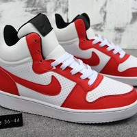 """Nike Court Borough Mid"" Unisex Sport Casual Fashion Multicolor High Help Plate Shoes Couple Sneakers"