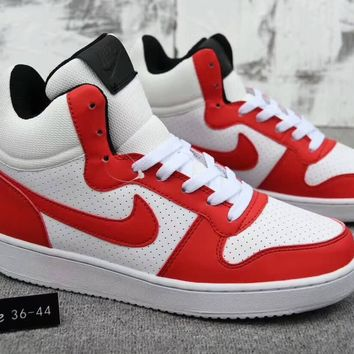 """""""Nike Court Borough Mid"""" Unisex Sport Casual Fashion Multicolor High Help Plate Shoes Couple Sneakers"""