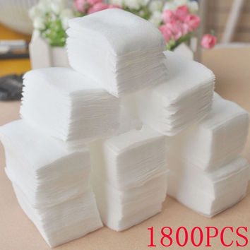 1800pcs Nail Art Manicure Polish Remover Clean Wipes Cotton Lint Pads Paper = 1929762180