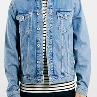 Men's Topman Light Wash Denim Jacket