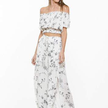 Off the shoulder summer blossom matching set