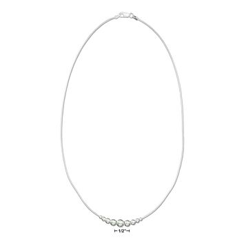 """Sterling Silver Necklaces: 18"""" Graduated Beads Necklace On Snake Chain"""