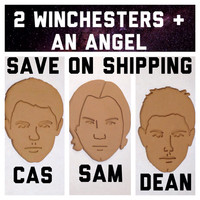 Sam, Dean Winchester & Castiel Cookie Cutter Set Supernatural