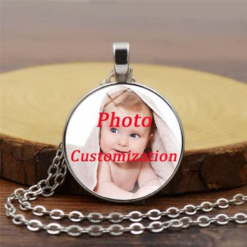 fashion Personalized Photo Pendants Custom Necklace Photo of Baby Child Mom Dad Grandparent Loved One Gift Family Member Gift