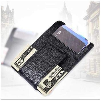 Money Clip with RFID Safe Wallet