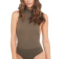 SLEEVELESS BODYSUIT | OLIVE BODYSUITS | GREEN BODYSUITS | GOING OUT OUTFITS - AKIRA