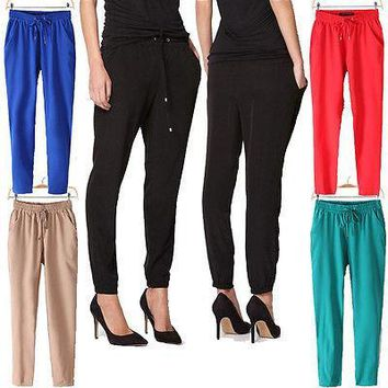 Woman's Harem Pants Casual Jogger Dance Loose Slacks Trousers Sweatpants Pretty