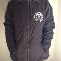 Monogrammed Quilted Jacket