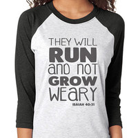Let Your Faith 3/4 Sleeve Raglan - beautiful quote shirts, workout clothing, motivational tshirts, inspirational baseball tee