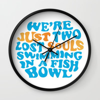 Floyd Pink - wish you were here Wall Clock by g-man