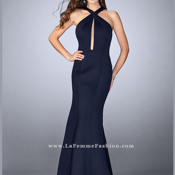 La Femme 24313 High Neck Prom Dress