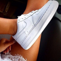 Nike Fashion Women Men's shoes air force  sandals leisure sports shoes white