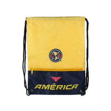 Club America Backpack  Soccer Book Cinch Bag Sack Authentic Official Merchandise