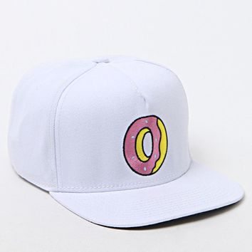 ODD FUTURE Single Donut White Snapback Hat - Mens Backpack - White - One