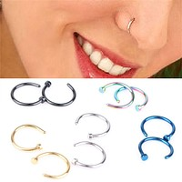 1 Pair Medical Nose Rings Clip On Nose Ring Body Fake Piercing Piercing Jewelry