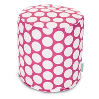 Hot Pink Large Polka Dot Small Pouf