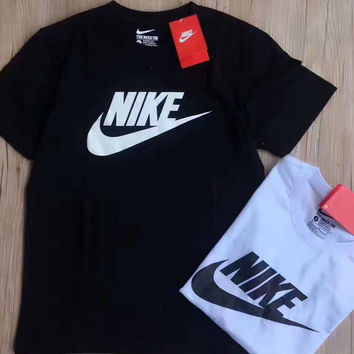NIKE fashion hot sale five color round neck short sleeve T-shirts Black