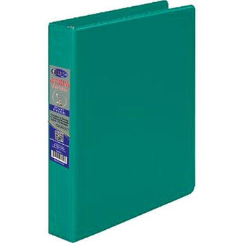 1 Inch 3 Ring Vinyl Binder - Green