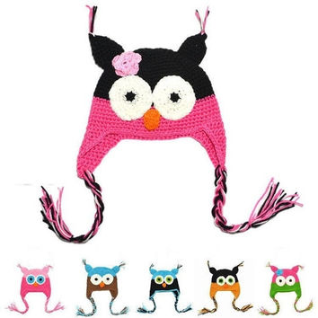 1 PC Fashion Cute Baby Boy Girl Toddler Owls Knit Crochet Hat Beanie Cap Comfy Colors = 1958128324